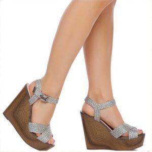 NIB 'Wilma' by Madison for Shoe Dazzle - Gray 8.5